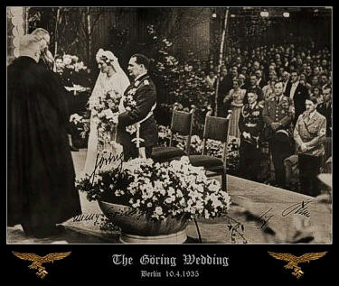 Herman Goering Adolf Hitler Wedding